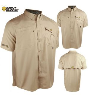 Scent Blocker Recon Outfitter S/S Shirt (M)- Ivory