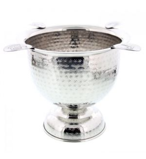 Stinky Brand Tall Ashtray - Antique Hammered Stainless