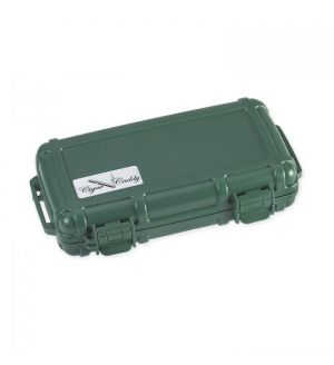 Cigar Caddy 3400 Humidor 5-ct- Green