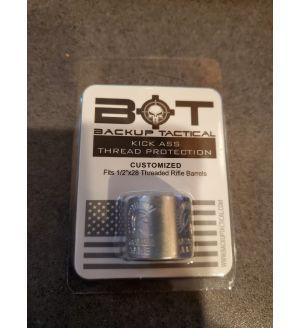 Backup Tactical Thread Protector - MOLON LABE DESIGN RIFLE THREAD PROTECTOR 1/2 X 28 FOR .223/5.56 & AR15 - Silver