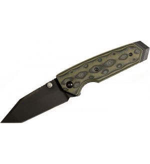 "Hogue EX02 3.375"" Tactical Tanto Blade with G-Mascus Green G-10 Handles - 34268"