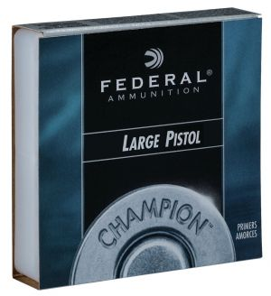 Federal 150 Champion Large Pistol Multi-Caliber Handgun Primers - (100 Per Box / 10 boxes /1000rd case) Case - price includes HazMat fee
