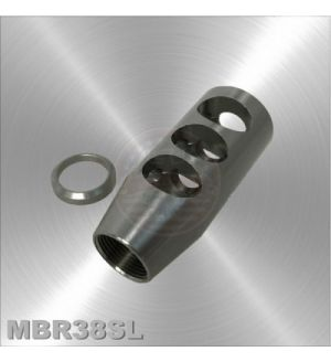 .308 Rifle Stainless Steel Compact Competition Muzzle Brake 5/8x24