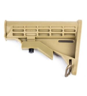 AR-15 T6 Collapsible Standard Version Stock Body-Mil Spec -TAN