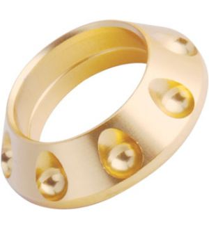 DIMPLED WINDING CHECKS - GOLD