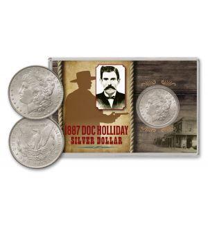 1887-P Doc Holliday Morgan Silver Dollar BU