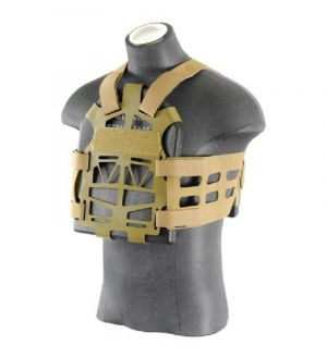 UK Arms Airsoft Plate Carrier w/ Dummy Plates - DARK EARTH