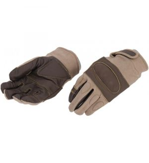 UK Arms Airsoft Tactical Hard Knuckle Gloves Large - TAN