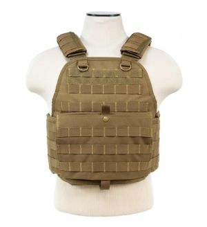 NcStar Airsoft VISM Tactical Plate Carrier - TAN