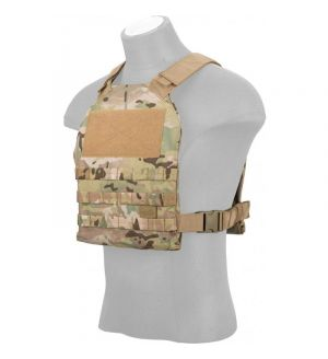 Lancer Tactical Standard Issue 1000D Nylon Plate Carrier - CAMO