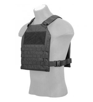Lancer Tactical Standard Issue 1000D Nylon Plate Carrier - BLACK