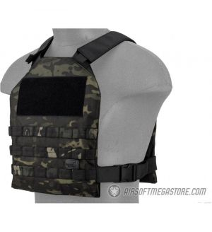 Lancer Tactical Standard Issue 1000D Nylon Plate Carrier -  CAMO BLACK