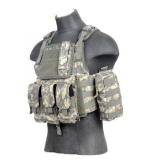 Lancer Tactical CA-305A Gear Plate Carrier Vest (1000D Nylon) - ACU