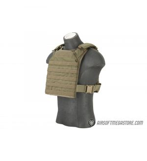 Flyye Industries 1000D Cordura MOLLE PC Plate Carrier (MED) - RANGER GREEN