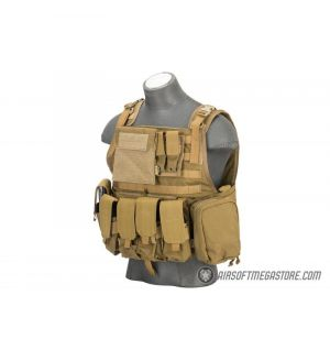Flyye Industries 1000D Cordura MOLLE Plate Carrier w/ Pouches [LRG] - COYOTE BROWN