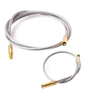 """Breakthrough Clean Technologies Flexible Cleaning Cable with Brass Threads - 2 per Set (1 -8"""" / 1 - 33"""")"""