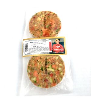 Wild Alaskan Copper River Sockeye Salmon Patties