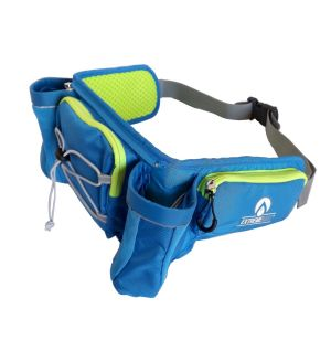 ExtremeMist Detachable Dual Holster Hydration Waist-Pack (Adjustable Large-4XL) (Blue)