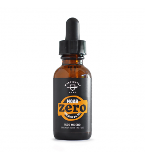 WARFIGHTER ZERO - MOAB 1500 MG CBD TINCTURE WITH 0% THC, NATURAL FLAVOR