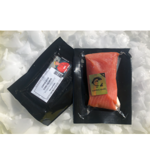 Wild Alaskan River Coho Salmon-16 Portions (8oz)