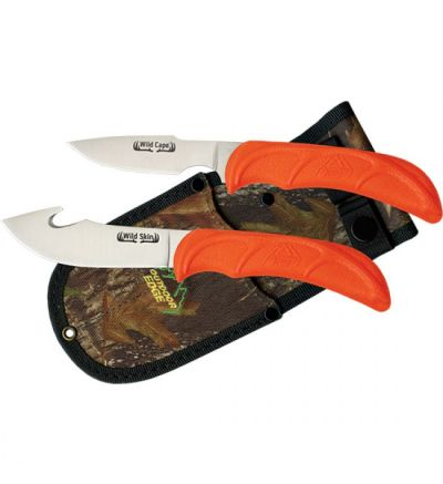 Outdoor Edge Cutlery WILD PAIR 2 KNIFE COMBO CLAM