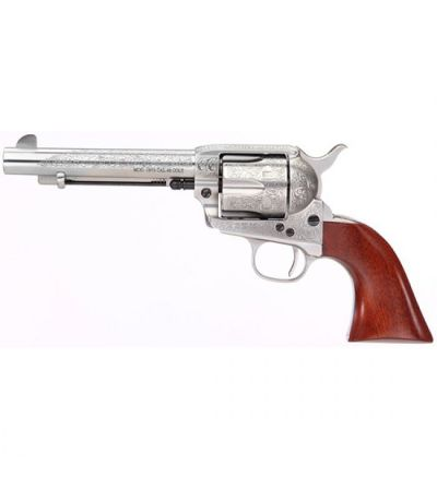 Taylors & Company UBERTI 1873 CATTLEMAN 45LC FLORAL ENGRAVED