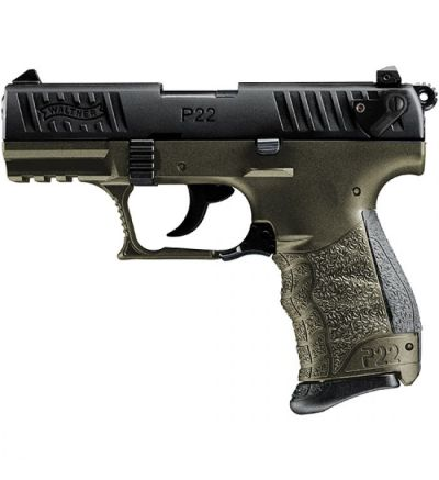 Walther Arms P22Q 22LR MILITARY 10RD ODG