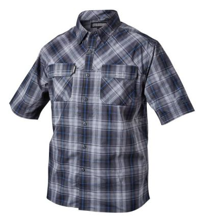 Blackhawk 1730 Plaid Button-Down S/S Shirt (2X)- Admiral Blue