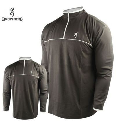 Browning Highline 1/4 Zip Shirt (M)- Coffee