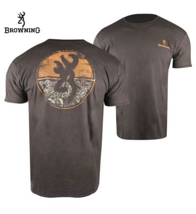 Browning Dialed-In Realtree Max T-Shirt (XL)- Dark Chocolate/RTMX-5