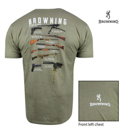 Browning Faves T-Shirt (M)- Light Olive