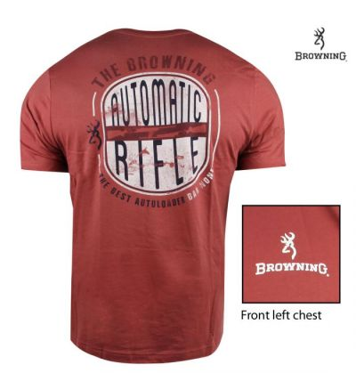 Browning Best Autoloader T-Shirt (L)- Rust