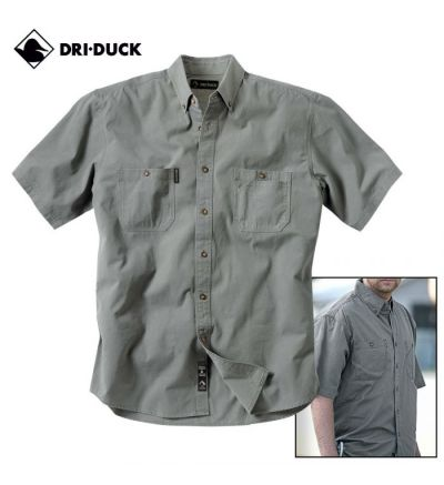 Dri Duck Sueded Ridge Cloth Brick Shirt (S)- Cactus