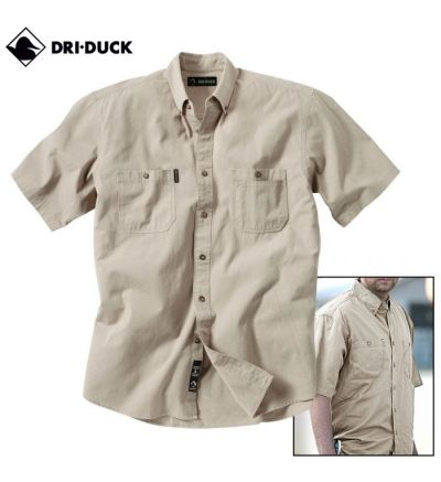 Dri Duck Sueded Ridge Cloth Brick Shirt (S)- Rope