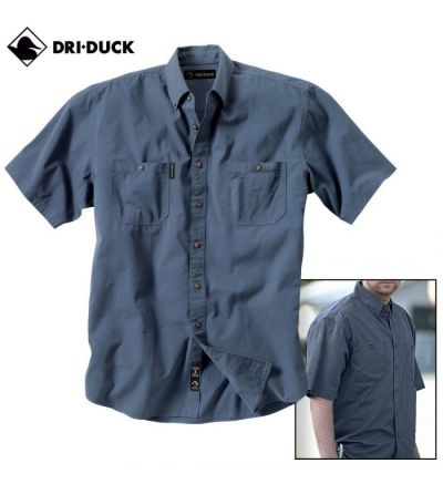 Dri Duck Sueded Ridge Cloth Brick Shirt (S)- Steel