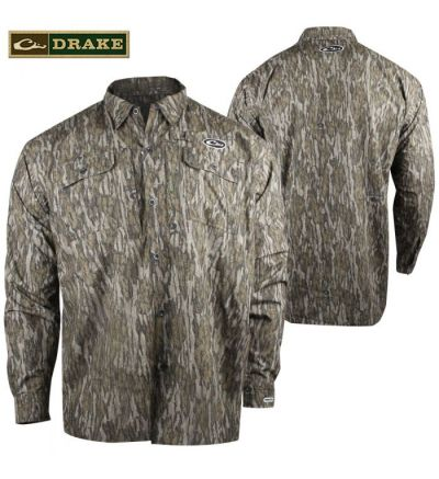 Drake EST Refuge Heat-Escape WP Button Up Shirt (M)- MOBL