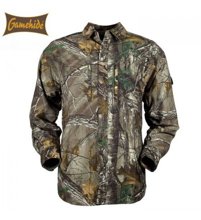 Gamehide Elimitick Ultra Lite L/S Button-Down Shirt (L)- RTX