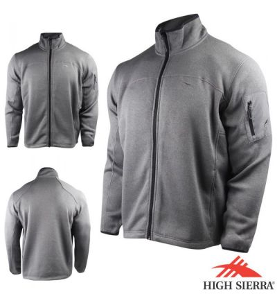 High Sierra Funston Full Zip Jacket (2X)- Charcoal