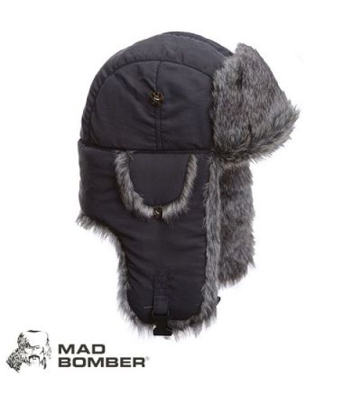 Mad Bomber Supplex Bomber Hat (L)- Gry/Gry Faux Fur