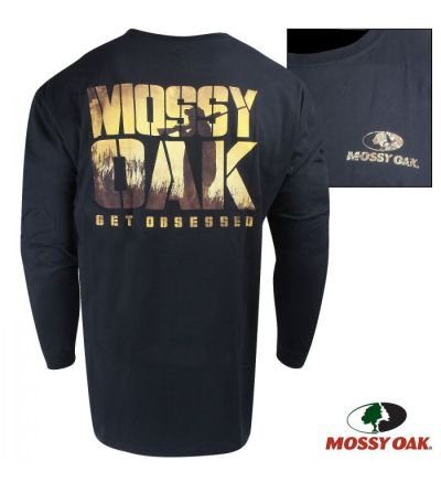 Mossy Oak Obsessed Long-Sleeve Crew (S)- Black