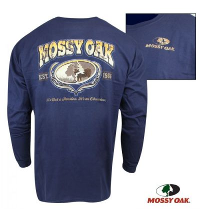 Mossy Oak Buck Obsession Long-Sleeve Crew (M)- Navy