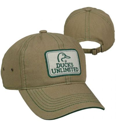 Ducks Unlimited Flat Stiched Felt Patch Cap- Brown