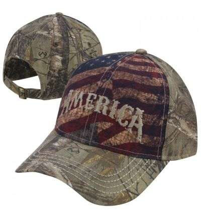Americana American Flag Printed Embroidered Camo Cap- RTX