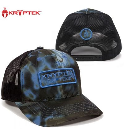 Kryptek Scout Patch Embroidered Meshback Cap- Neptune/Blk