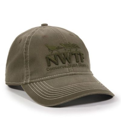 NWTF Low Profile Raised Embroidered Cap- Olive (CA-OCP224456)