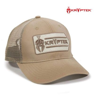 Kryptek Patch Meshback Cap- Khaki/White