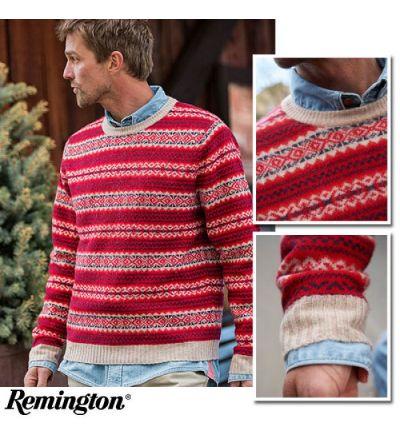 Remington 1816 The Durango Crew Sweater (L)- Red