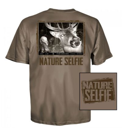 Nature Selfie Whitetail T-Shirt (L)- Safari