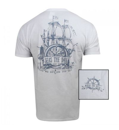 Seas The Day T-Shirt (S)- White