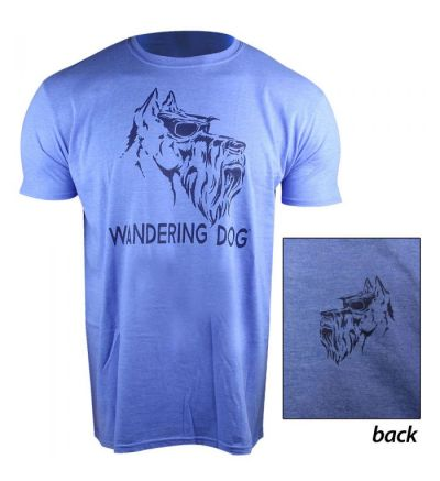 Wandering Dog WD Shield T-Shirt (L)- Royal